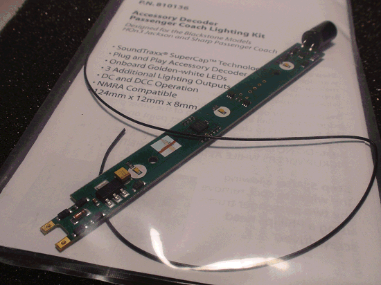 SOUNDTRAXX PN 810136 PASSENGER COACH LIGHTING KIT ACCESSORY DECODER